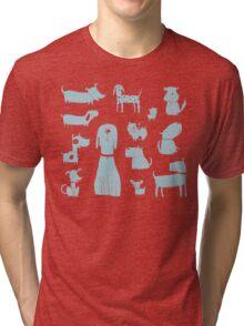 dogs - pale blue Tri-blend T-Shirt
