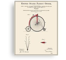 High Wheel Bicycle Patent Canvas Print
