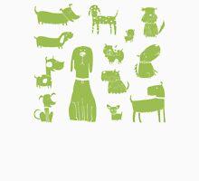 dogs - green Unisex T-Shirt