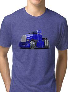 Cartoon semi-truck Tri-blend T-Shirt