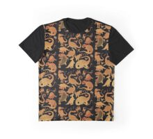 Dinosaur Collecion Pattern Graphic T-Shirt