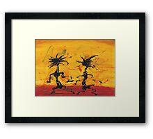 Dance Art Dancing Couple X Framed Print
