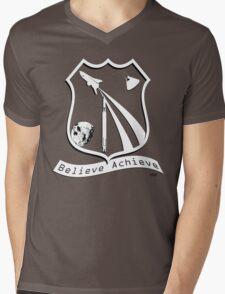 Believe Achieve Mens V-Neck T-Shirt
