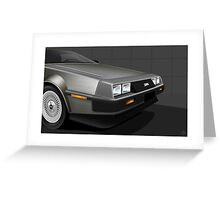 Poster artwork - DeLorean DMC-12  Greeting Card
