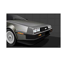 Poster artwork - DeLorean DMC-12  Photographic Print