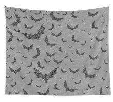 Swirly Bat Swarm Wall Tapestry