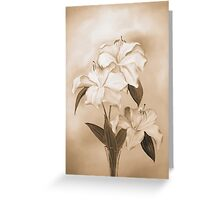 White Lilies Greeting Card