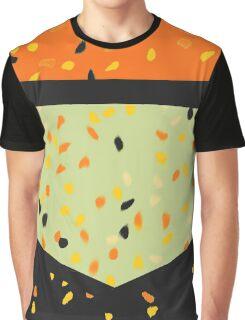 orange black and sage speckled dress Graphic T-Shirt