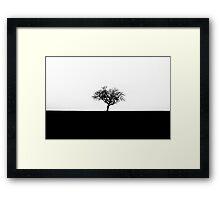 Minimal tree Framed Print