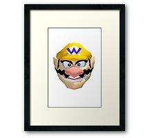 Wario's face Framed Print