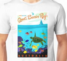 """AUSTRALIA"" Great Barrier Coral Reef Print Unisex T-Shirt"