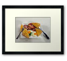 Country Breakfast: Bacon, Eggs and Sourdough Toast. Framed Print