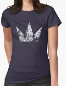 Kingdom Hearts Crown grunge Womens Fitted T-Shirt
