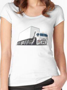 Cartoon cargo truck Women's Fitted Scoop T-Shirt
