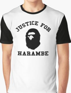 Justice for Harambe Graphic T-Shirt