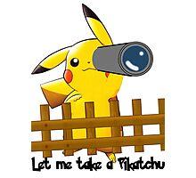 Let me get a pikatchu Photographic Print