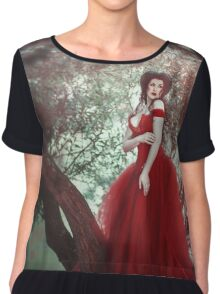 Crimson Queen Chiffon Top