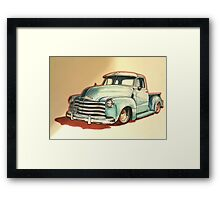 Chevrolet 3100 pickup truck Framed Print