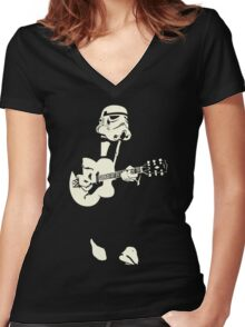 Rock N Clone Women's Fitted V-Neck T-Shirt