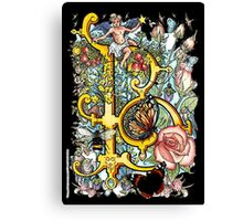 """The Illustrated Alphabet Capital  B  """"Getting personal"""" from THE ILLUSTRATED MAN Canvas Print"""