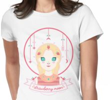 Strawberry Moon Womens Fitted T-Shirt