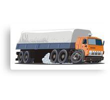 Cartoon cargo semi-truck Canvas Print