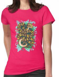 Scrub Python Womens Fitted T-Shirt