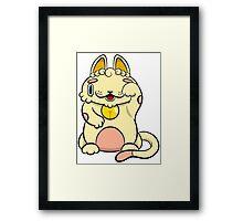 LUCKEECAT Golden litter Framed Print