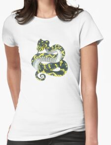 Broad-headed Snake Womens Fitted T-Shirt