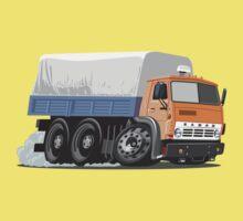 Cartoon Cargo Truck One Piece - Short Sleeve