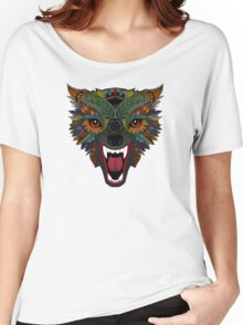 wolf fight flight teal Women's Relaxed Fit T-Shirt