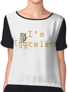 Regular Show Rigby Eggcelent Chiffon Top