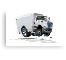 cartoon delivery / cargo truck Canvas Print