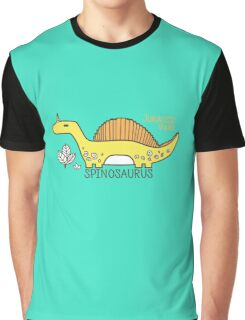 Dinosaurs, Jurassic Park. Adorable seamless pattern with funny dinosaurs in cartoon Graphic T-Shirt