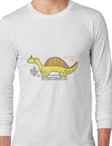 Dinosaurs, Jurassic Park. Adorable seamless pattern with funny dinosaurs in cartoon Long Sleeve T-Shirt