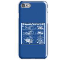 Blade Runner spinner blueprint iPhone Case/Skin