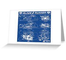 Blade Runner spinner blueprint Greeting Card