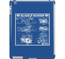 Blade Runner spinner blueprint iPad Case/Skin