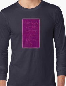 Hitchhiker's Towel Long Sleeve T-Shirt