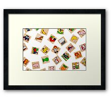 Generic Wooden Toys Representing Objects and Animals Framed Print