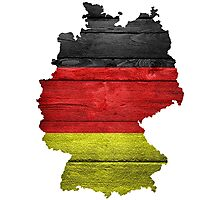 Germany Flag Map Photographic Print