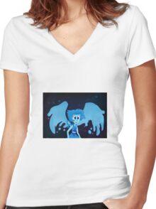 Lapis Lazuli Women's Fitted V-Neck T-Shirt