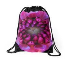 Purple Dahlia Drawstring Bag