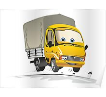 Cartoon delivery / cargo truck Poster