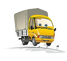 Cartoon delivery / cargo truck Photographic Print