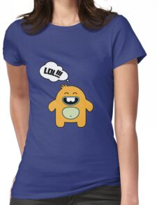 Cartoon monsters in a flat style.  LOL Womens Fitted T-Shirt