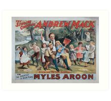 Performing Arts Posters The singing comedian Andrew Mack in the greatest of Irish plays Myles Aroon 0734 Art Print