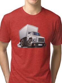 Cartoon delivery / cargo truck Tri-blend T-Shirt