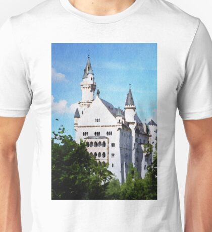 Neuschwanstein castle in watercolor Unisex T-Shirt