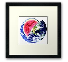 Earthmelon Framed Print